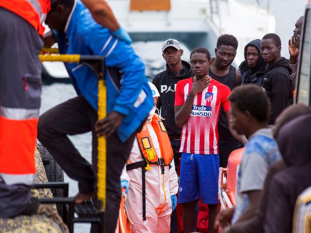 Rescate de inmigrantes en Gran Canaria.