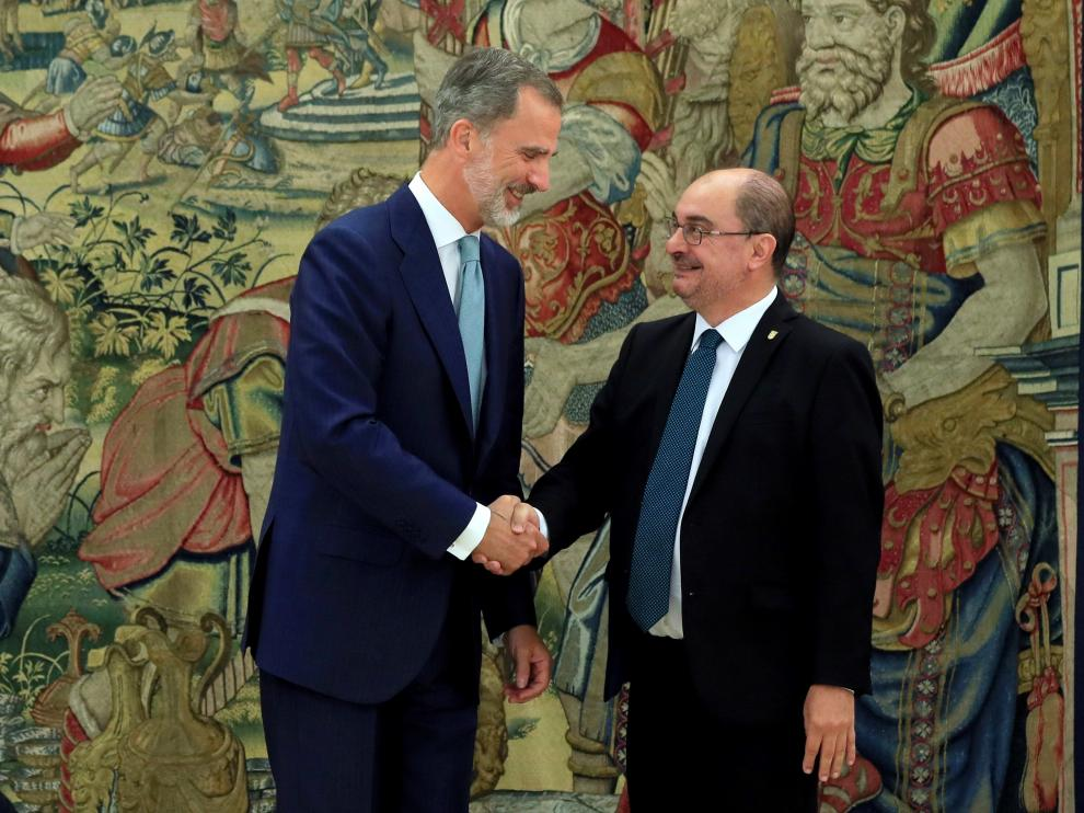 Felipe VI recibió a Lambán este lunes