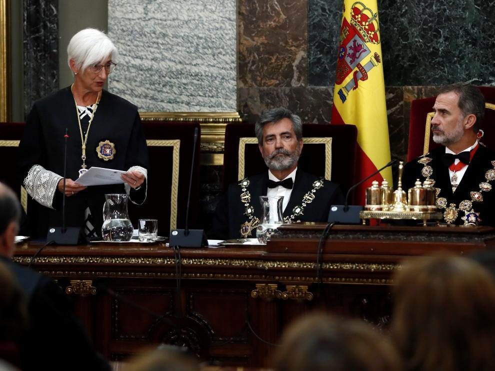 María José Segarra durante el acto de apertura del año judicial.