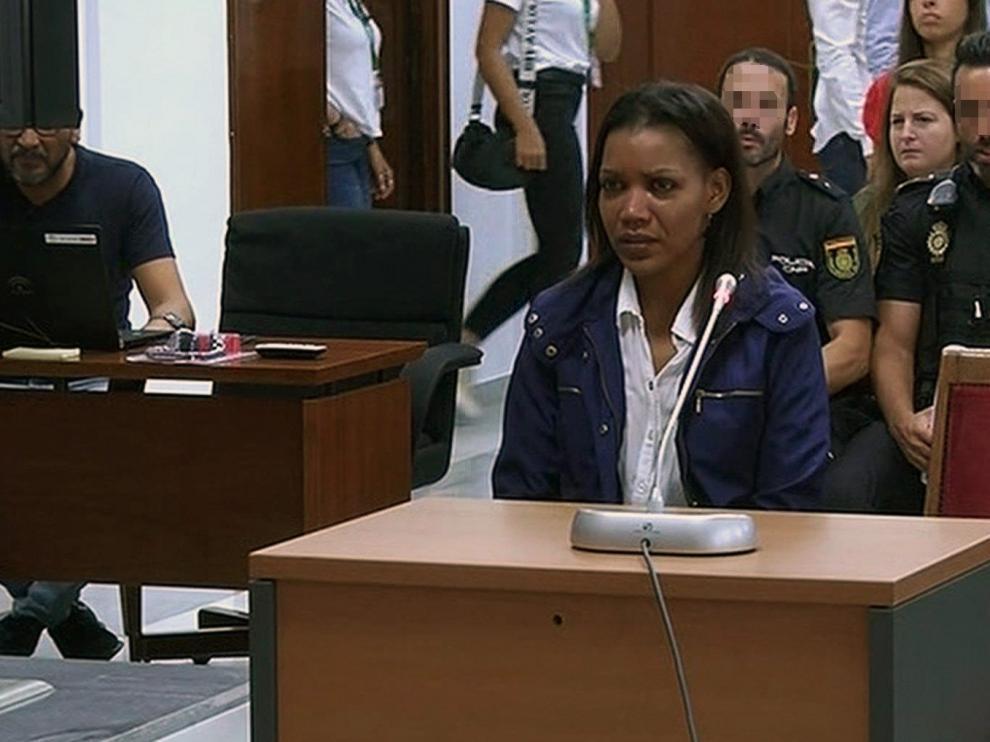 Ana Julia Quezada durante su declaración