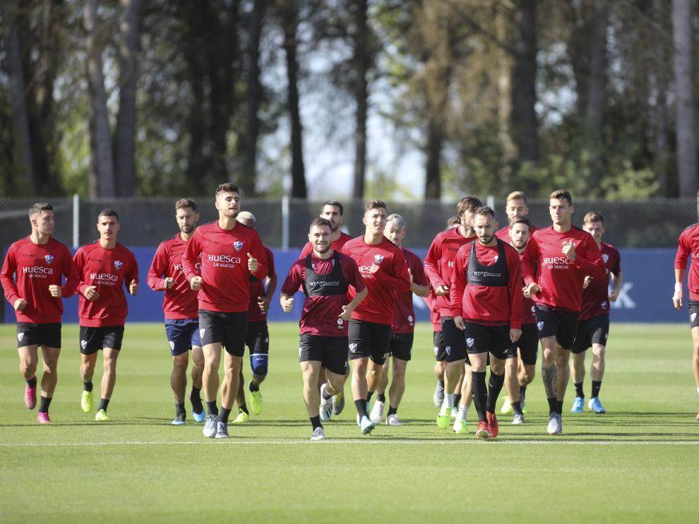 La SD Huesca ha vuelto al trabajo este martes.