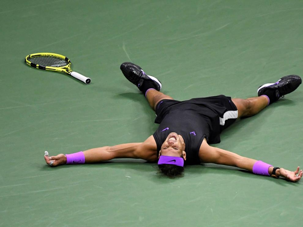 Nadal tras ganar el partido en Nueva York