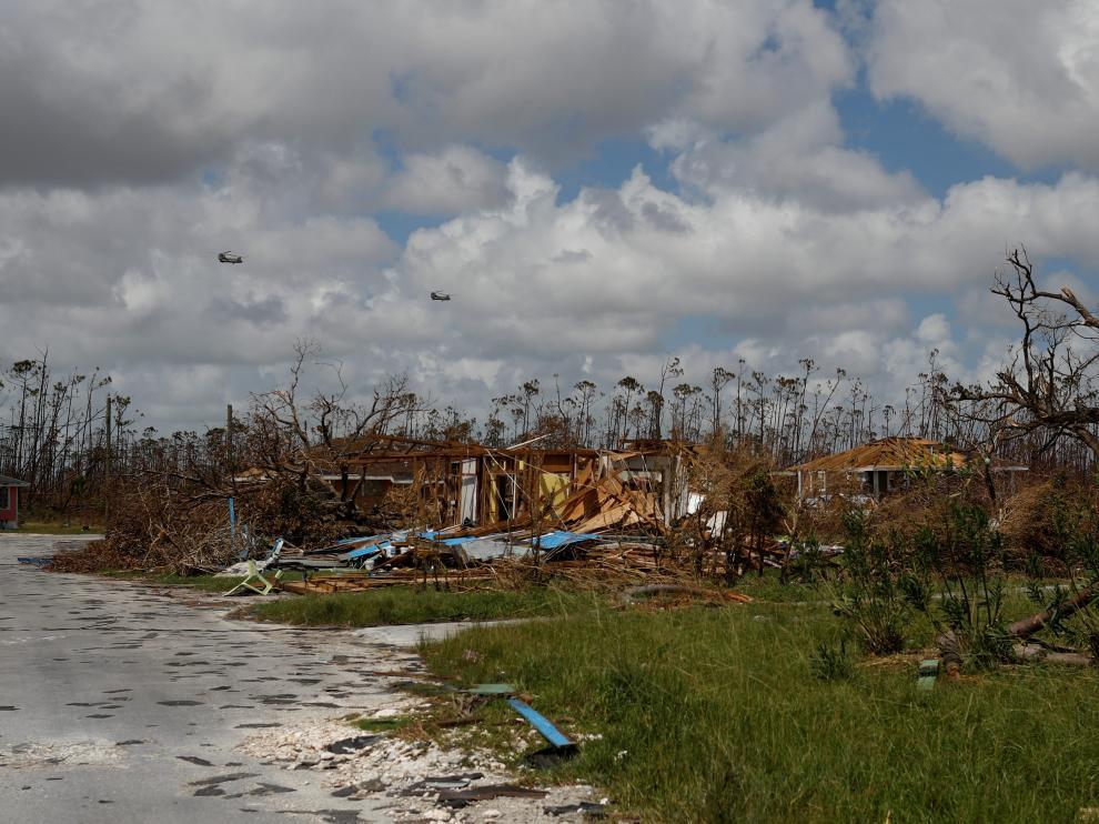 Casa destrozadas tras el paso de Dorian en Bahamas