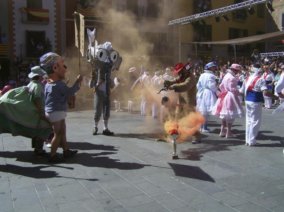 Imagen de las fiestas de Graus. La Mojiganga