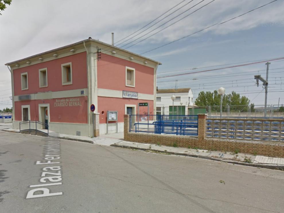 Los jóvenes escondieron las pertenencias robadas en los alrededores de la estación de ferrocarril de Villanueva de Gállego.