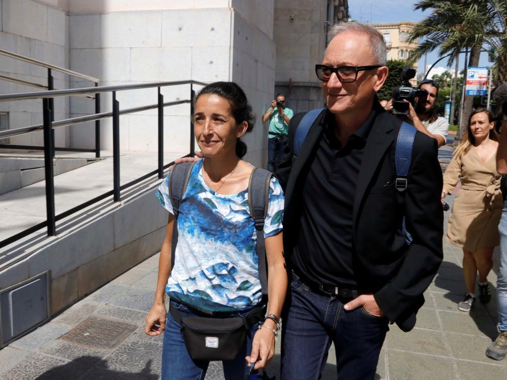 Patricia Ramírez, la madre del niño Gabriel Cruz, a su llegada a la Audiencia de Almería.