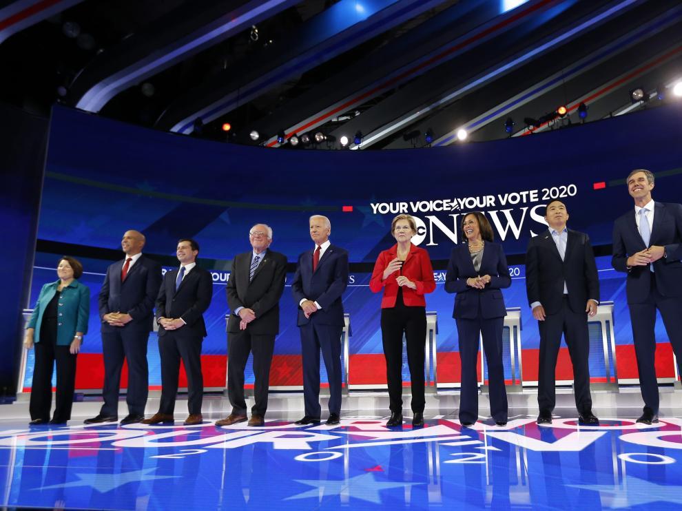 Diez candidatos demócratas debatieron en Houston