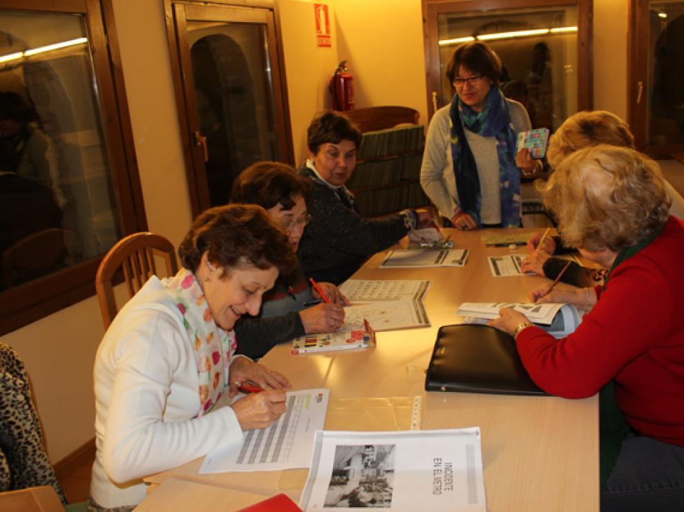 Un aula de educación de Adultos en Los Monegros.