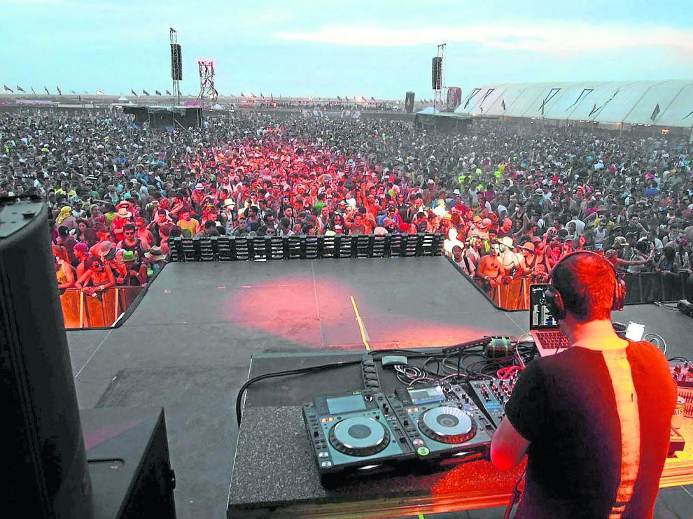 Un momento del Monegros Desert Festival del 2014, el último hasta la fecha