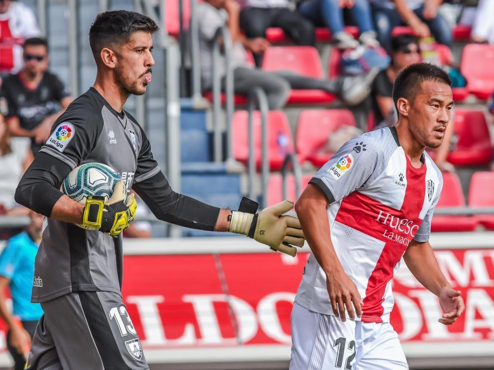 Okazaki ha disputado su segundo encuentro como jugador de la SD Huesca.