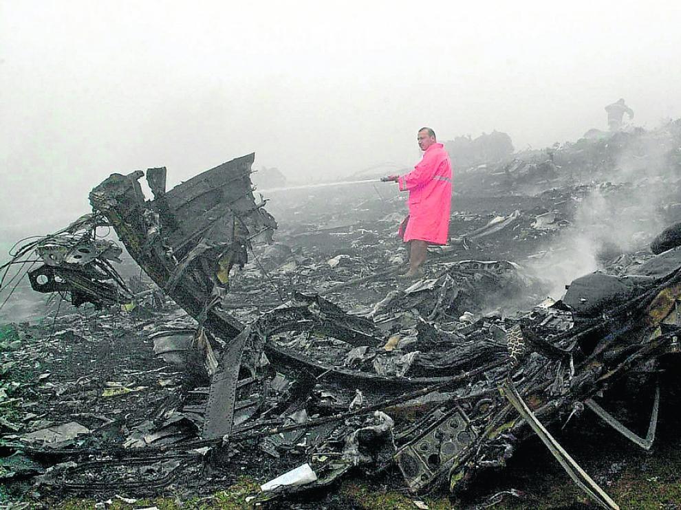 El Yak-42 se estrelló en Turquía el 26 de mayo de 2003 con 62 militares a bordo. reuters Turkey/ anatolian
