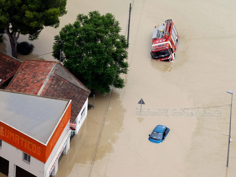 Inundaciones en el municipio alicantino de Dolores tras la gota fría.
