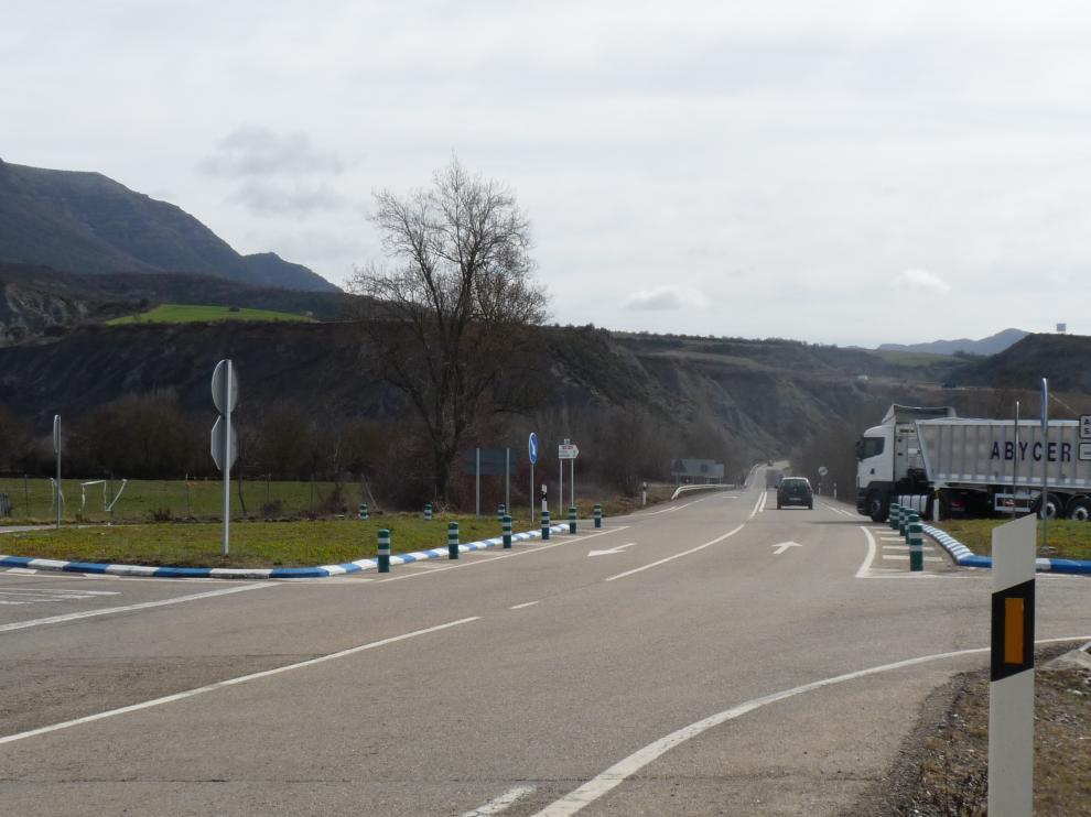 La nueva variante eliminará el actual punto negro de la N-330 a su paso por Sabiñánigo.