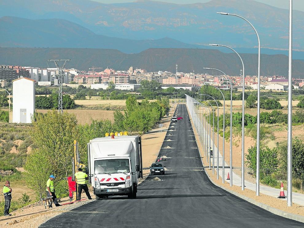 Las obras del nuevo vial de Plhus se encuentran ya en la fase final después de casi cinco meses.