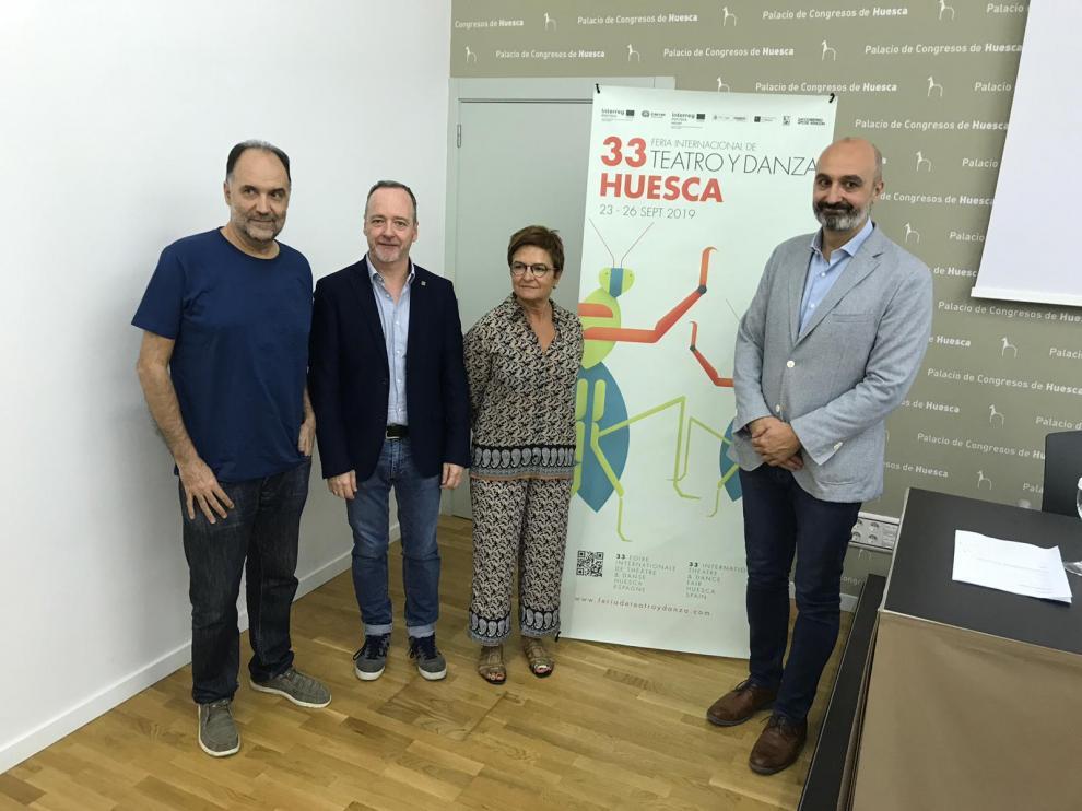 La feria se ha presentado este martes en Huesca. De izquierda a derecha, Luis Lles, Ramón Lasaosa, Maribel de Pablo y Víctor Lucea.