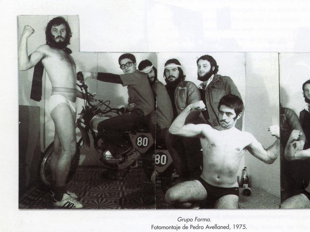 Fotomontaje del Grupo Forma, donde se integró Manuel Marteles, fallecido este martes.