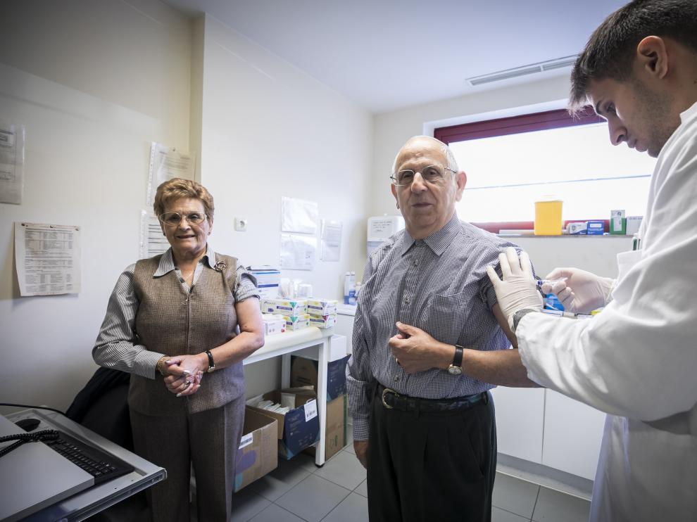 Imagen del inicio de la campaña de vacunación contra la gripe del año pasado.