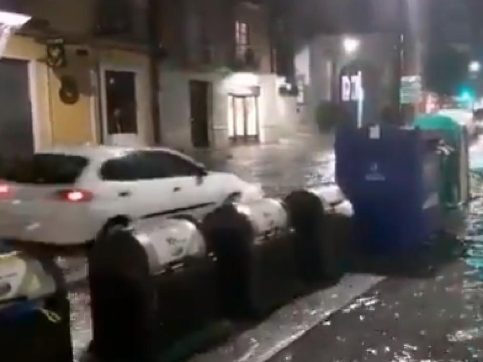 Las calles de Valladolid quedaron anegadas