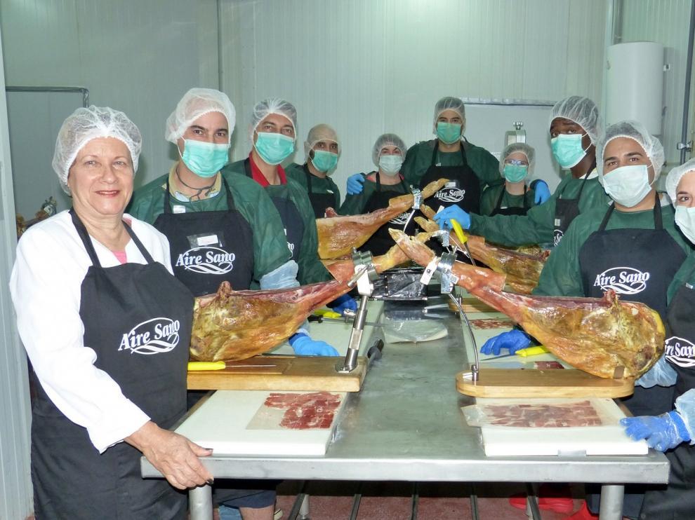 Curso de cortadores de jamón en la empresa Aire Sano.