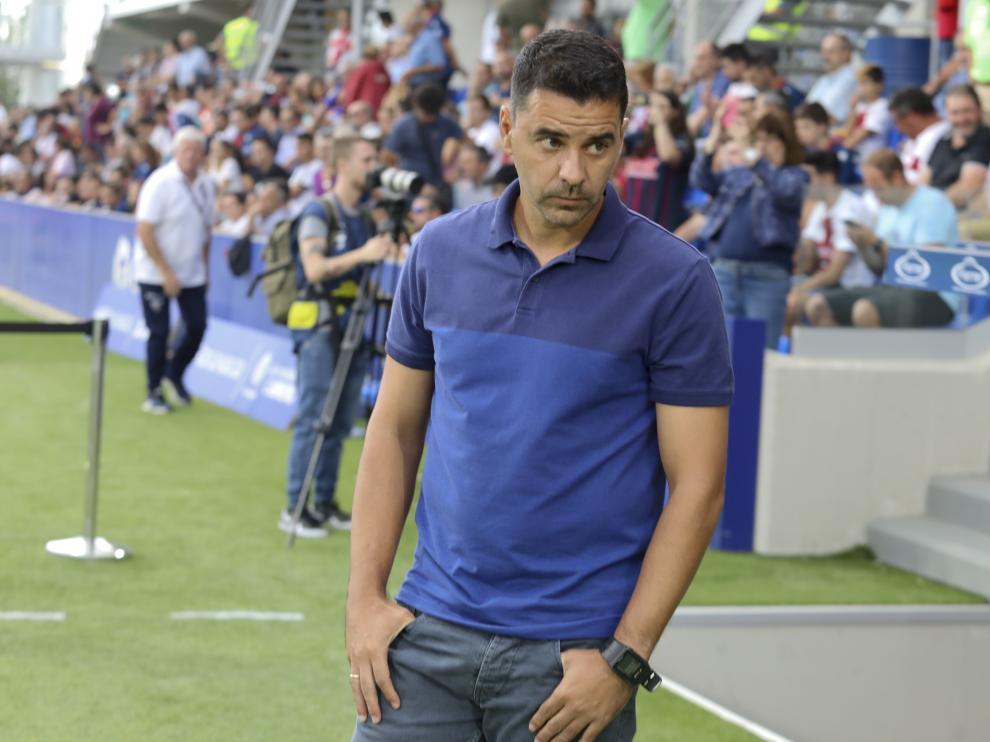Míchel Sánchez, entrenador de la SD Huesca.
