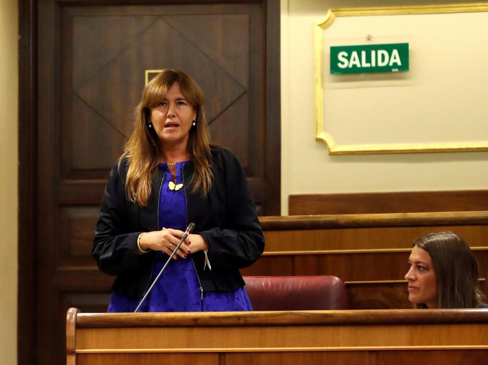 Laura Borrás, en rueda de prensa este jueves.