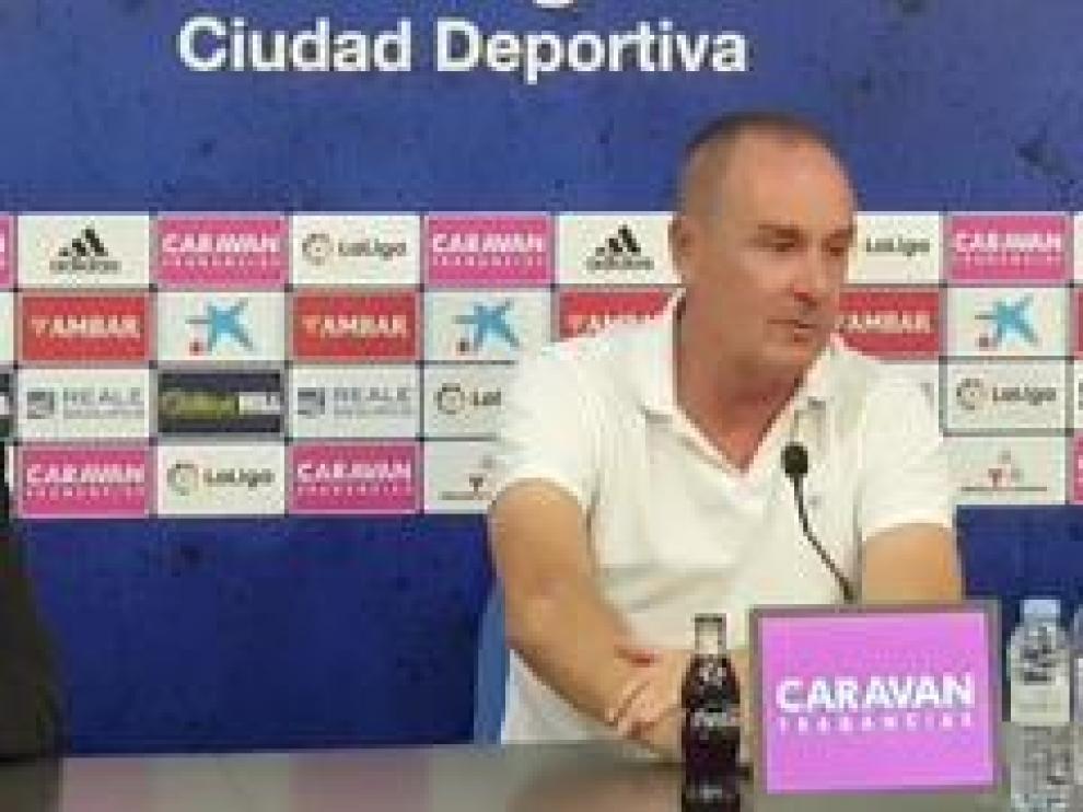 Víctor Fernández,entrenador del Real Zaragoza, hace un repaso a lo que llevamos de temporada y al próximo partido.