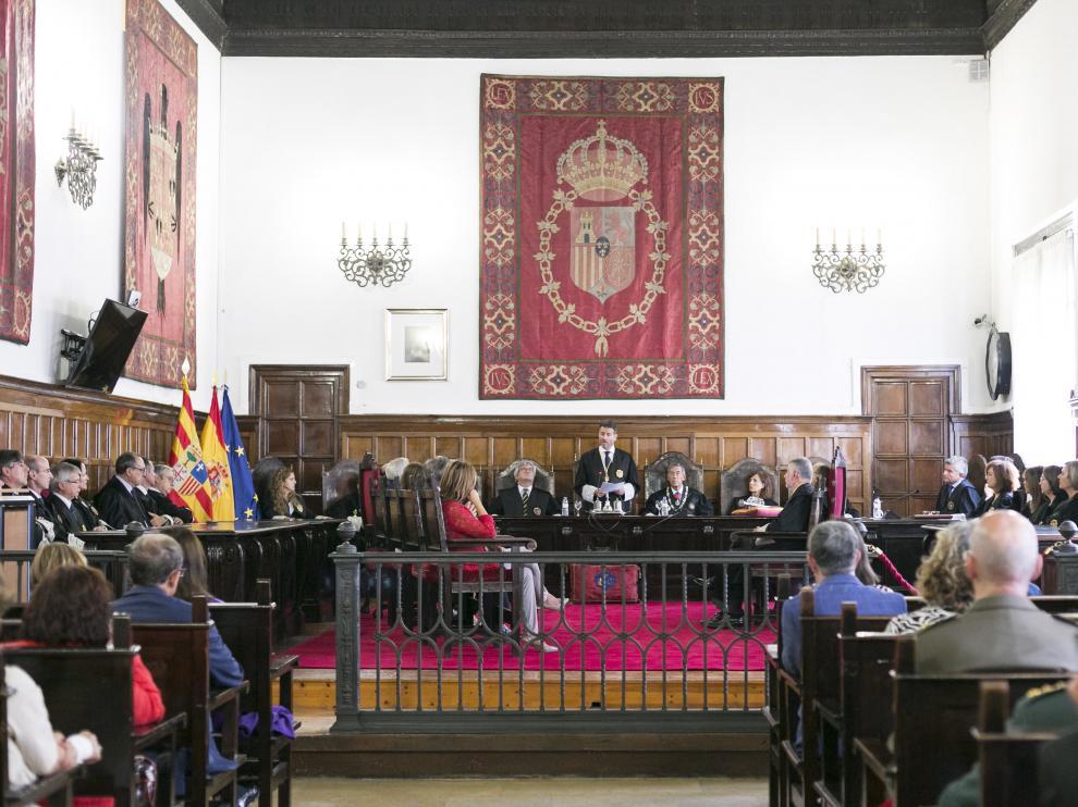 Celebración de la apertura del año judicial en la sede del Tribunal Superior de Justicia de Aragón.