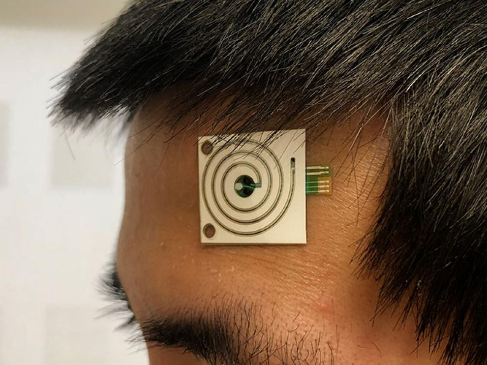 Los microsensores analizan el sudor