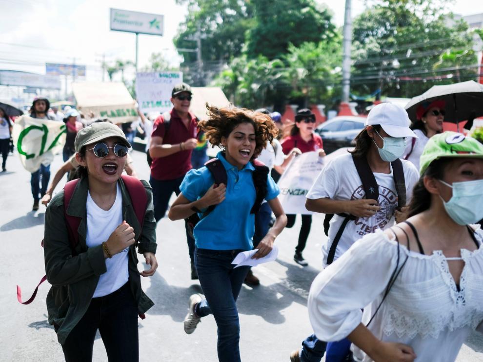 Manifestaciones en El Salvador.