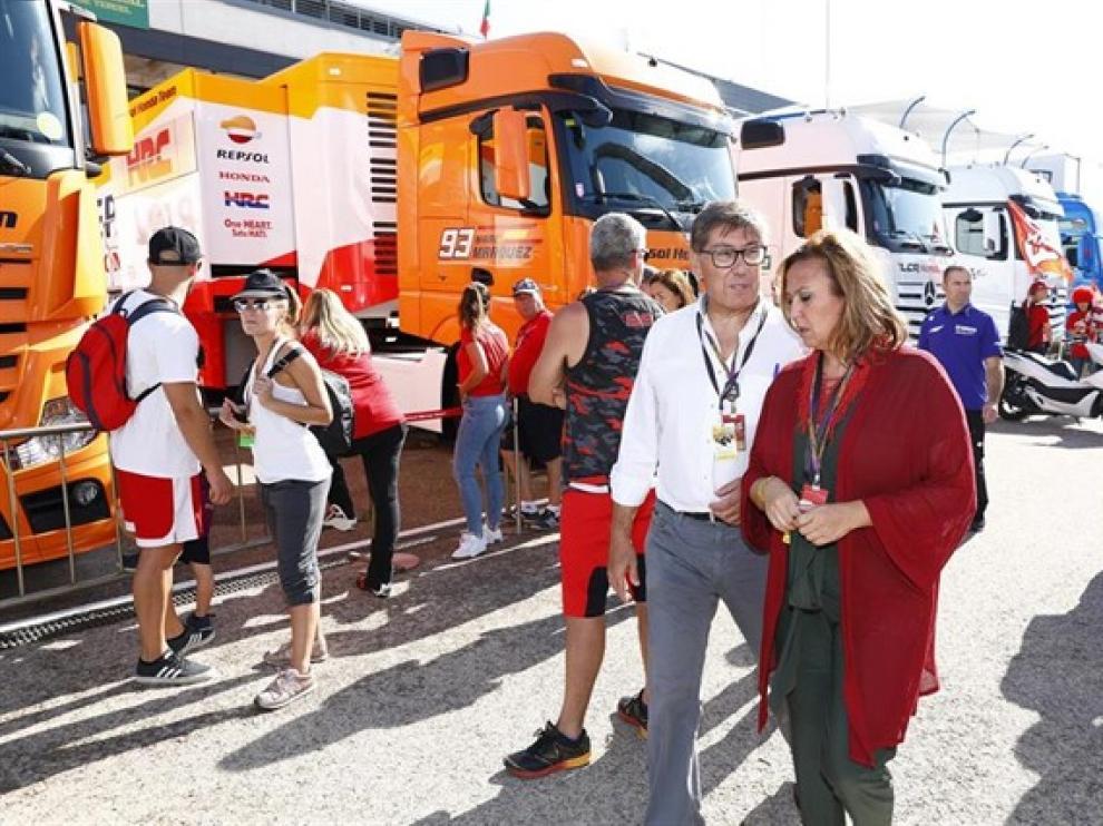 Arturo Aliaga, durante su visita a Motorland.