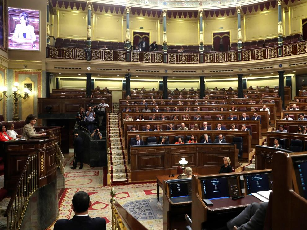 Un pleno del Congreso de los Diputados.