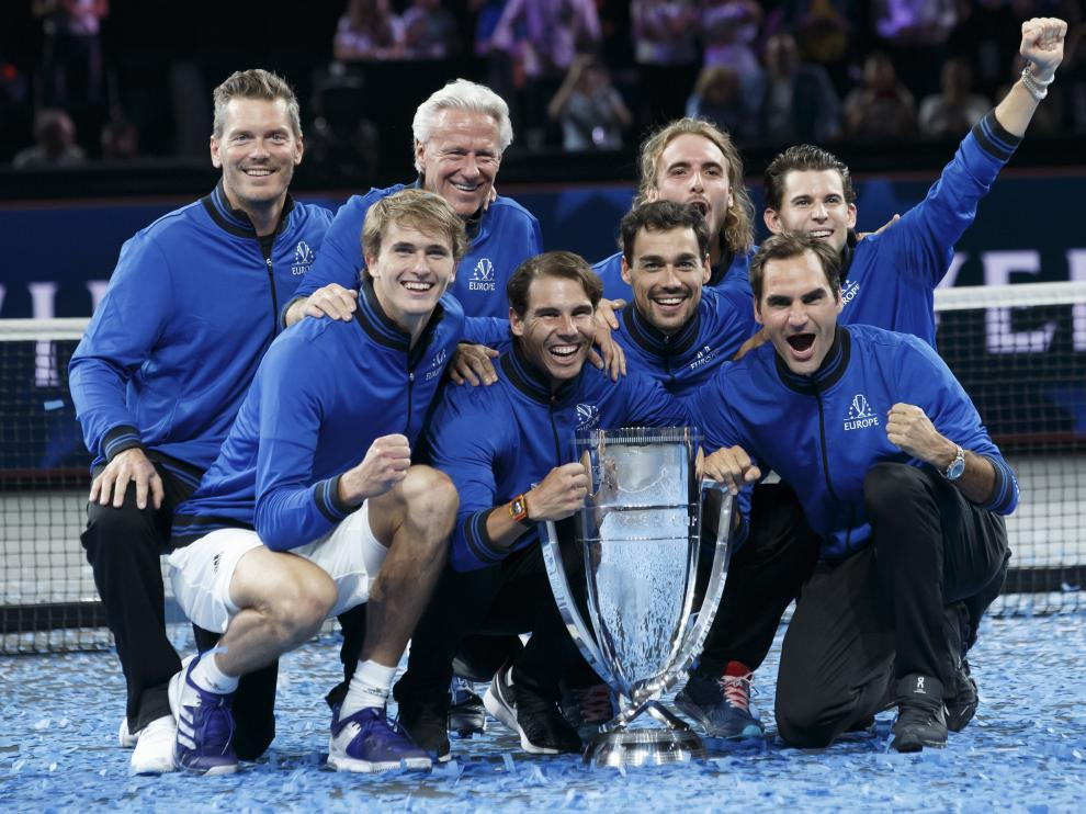 El equipo de Europa celebra su triunfo en la Laver Cup.
