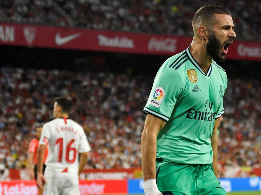 El Real Madrid consigue los tres puntos en Sevilla.