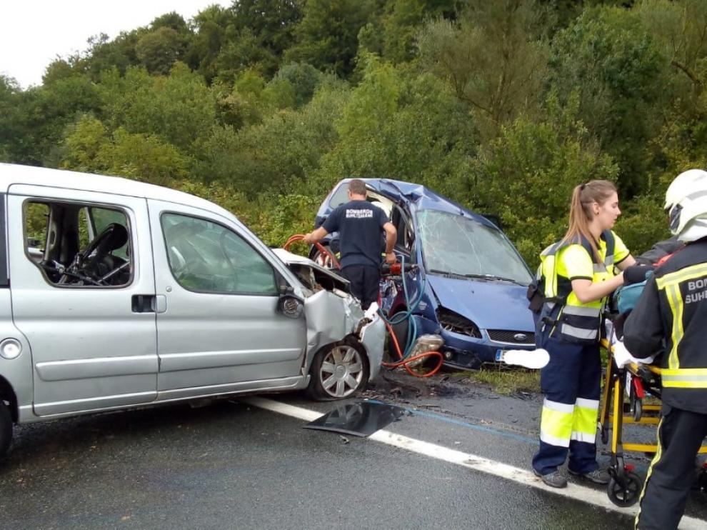 Una mujer ha fallecido en un accidente este domingo en la N-121A, en Navarra.