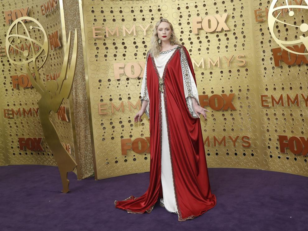 71st Primetime Emmy Awards - Arrivals - Los Angeles, California, U.S., September 22, 2019. Gwendoline Christie. REUTERS/Mario Anzuoni [[[REUTERS VOCENTO]]] AWARDS-EMMYS/