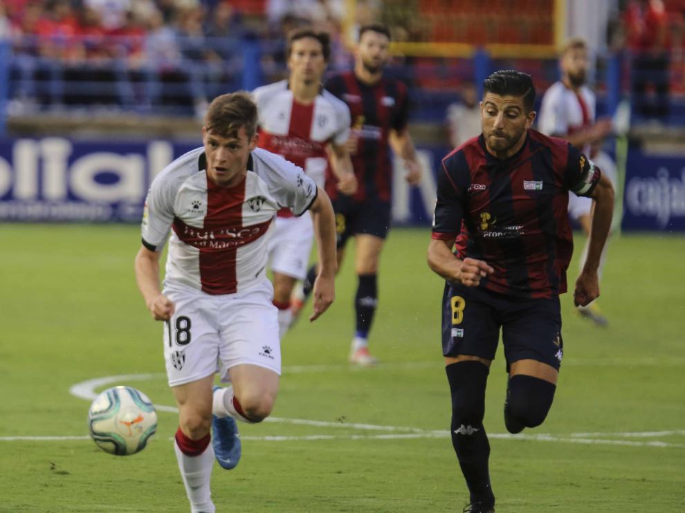 Sergio Gómez, durante el partido del domingo en el Francisco de la Hera.