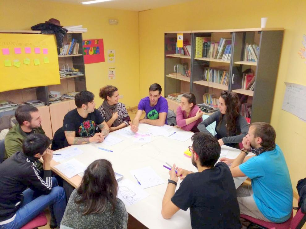 Imagen de archivo de una reunión del grupo de Jóvenes Dinamizadores Rurales.