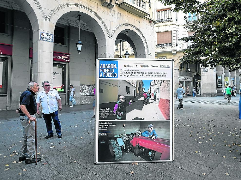 Imágenes de la muestra de 'Aragón, pueblo a pueblo' en el paseo de la Independencia