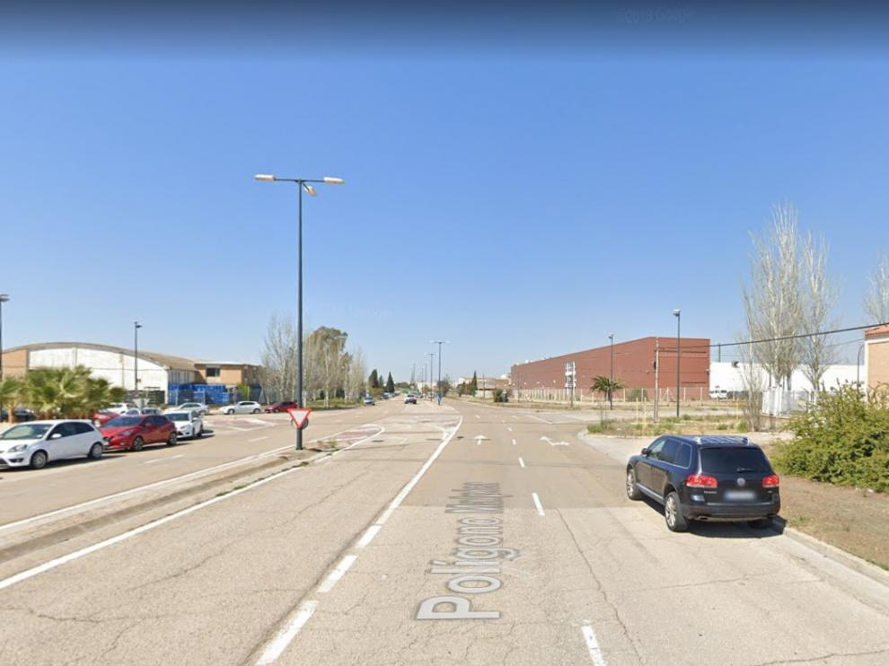 Una de las calles del polígono Malpica de Zaragoza.
