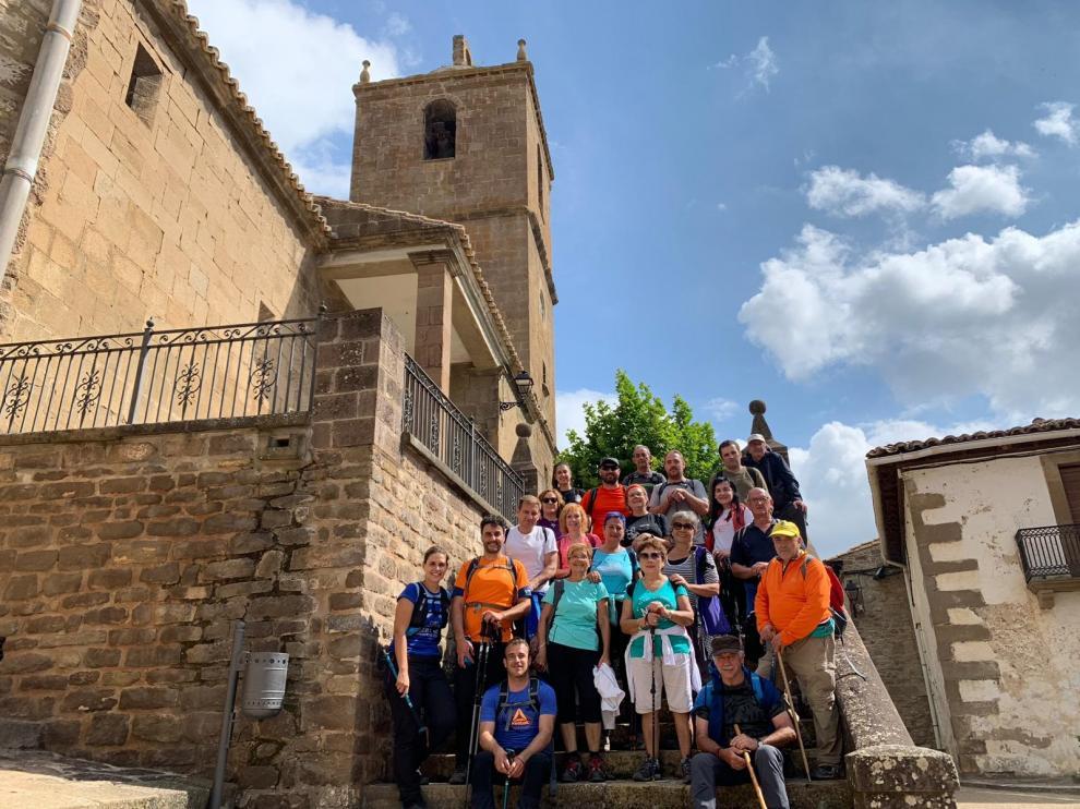 Participantes en la ruta Isuerre-Urriés del fin de semana pasado.