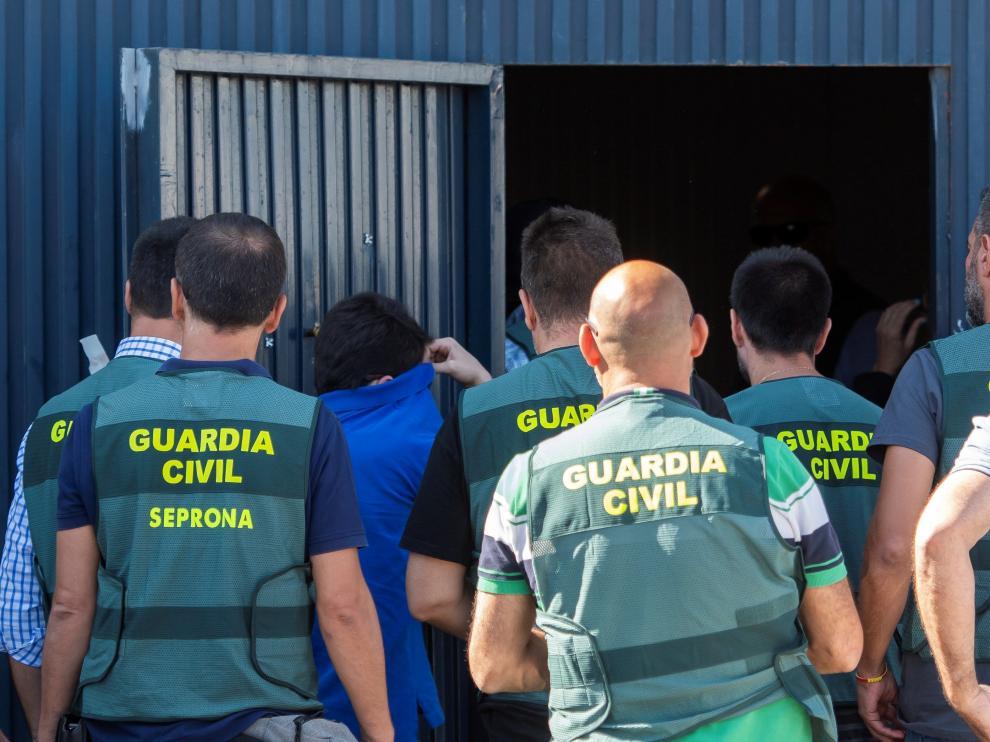 La Guardia Civil efectuó varios registros