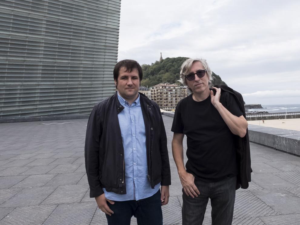 Joan Losilla y Fernando Trueba, este martes en San Sebastián.