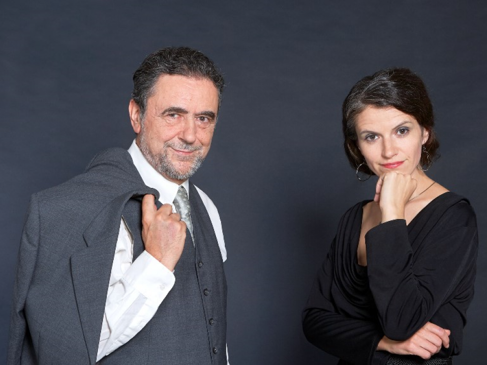Luis Felipe Alegre y Carina Reisnisky protagonizan 'Vuelve Berta Singerman'.
