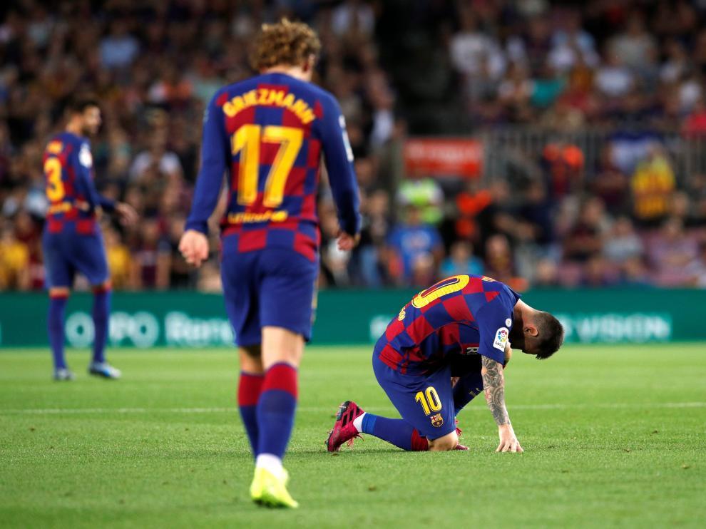 Messi fue sustituido tras el descanso con molestias musculares.