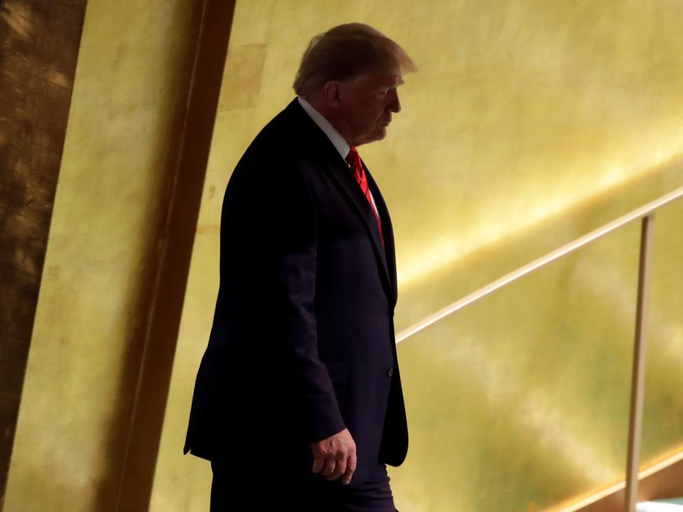Donald Trump este martes en Nueva York