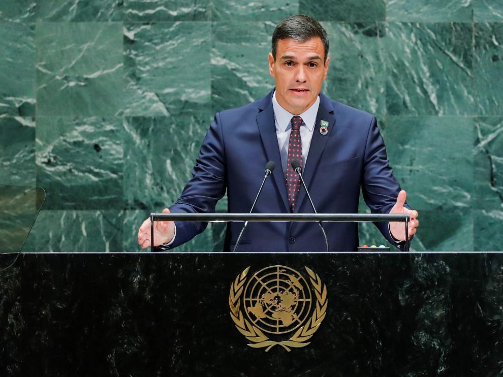 El dirigente español en funciones, en Nueva York, con motivo de la 74ª Asamblea General de Naciones Unidas.