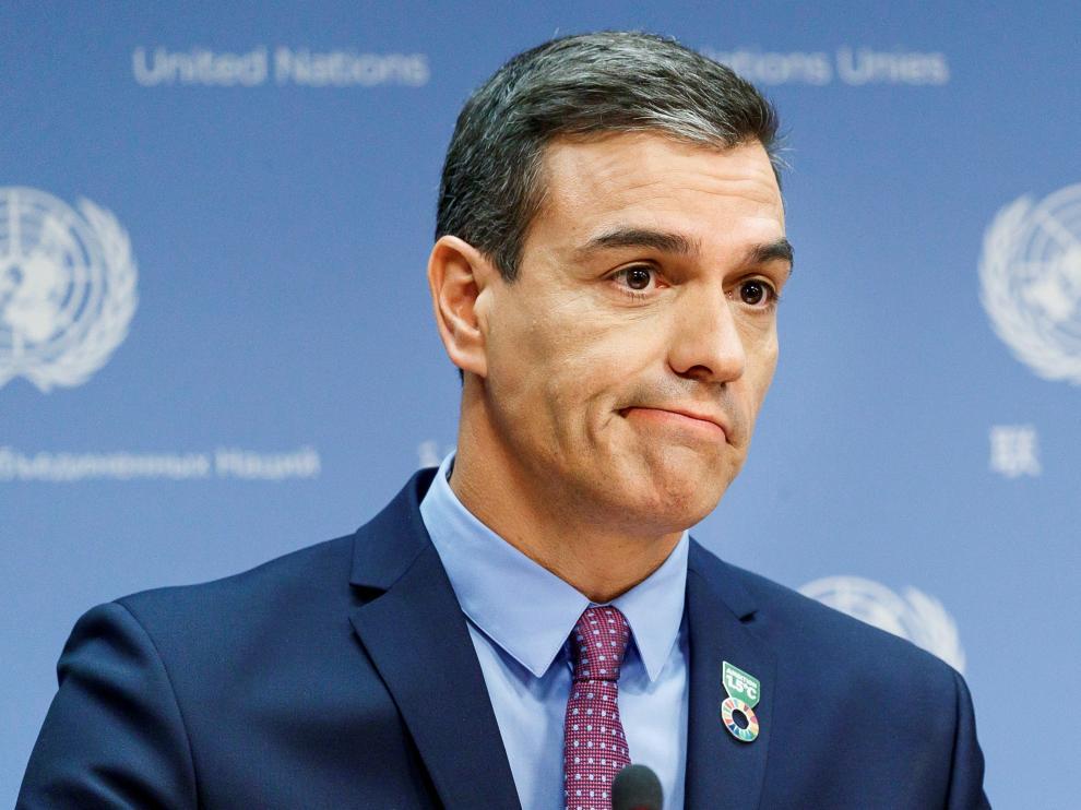 Pedro Sánchez este miércoles en Nueva York