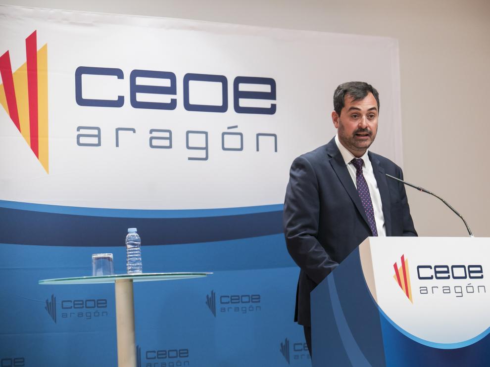 El presidente de CEOE Aragón, Ricardo Mur.