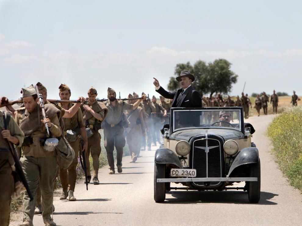Fotograma de 'Mientras dure la guerra', de Amenábar.