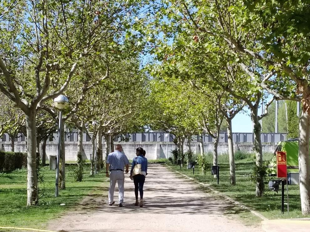 Instalaciones del campin San Jorge de Huesca este jueves.
